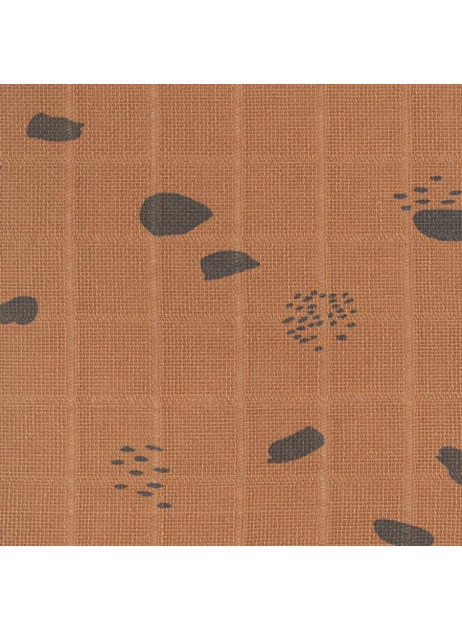 Hydrofiele doeken 70x70cm (3-pack) Spot caramel