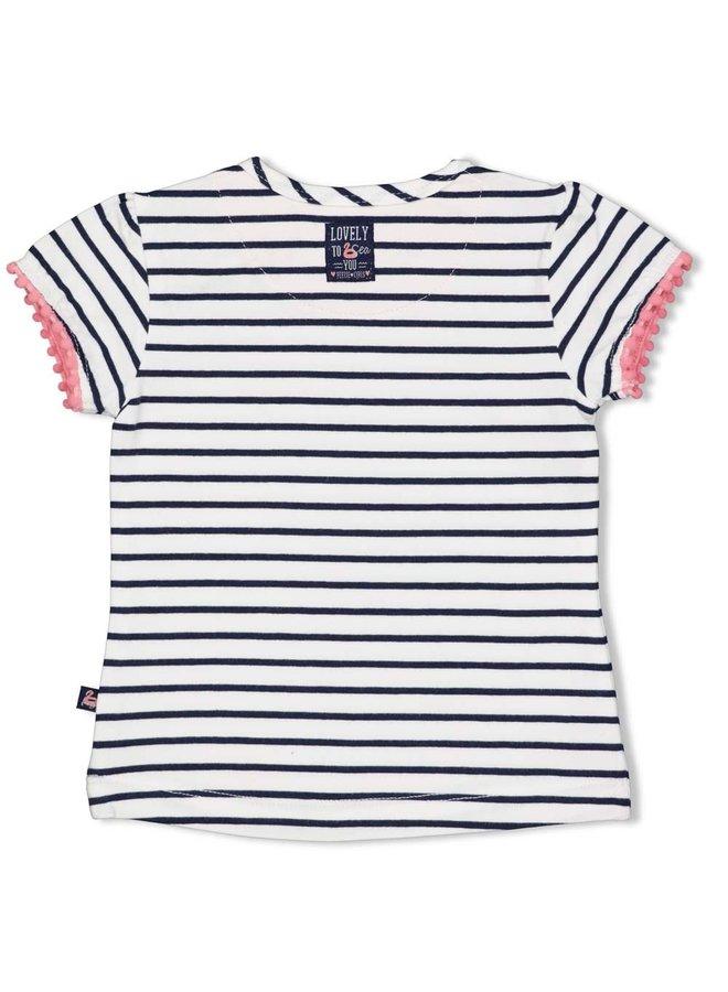 T-shirt streep - Seaside Kisses