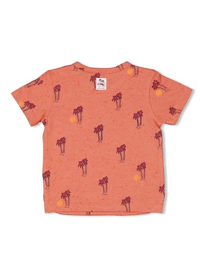 T-shirt AOP - Here Comes The Fun (koraal)
