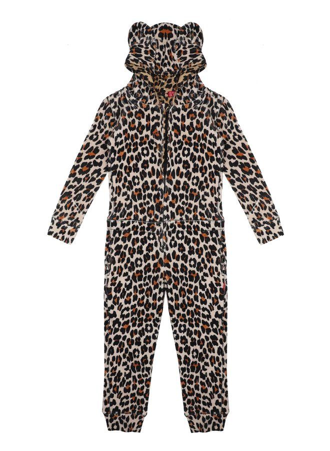 Girls Terry Suit (Brown Panther)