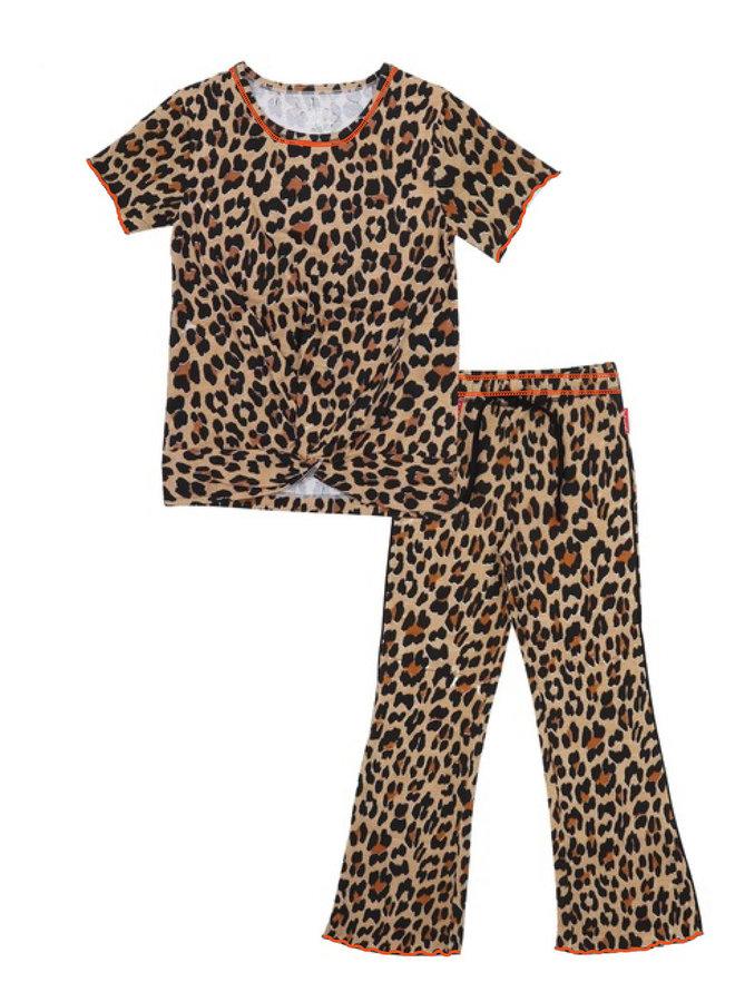Girls Pyjama Set (Brown Panther)