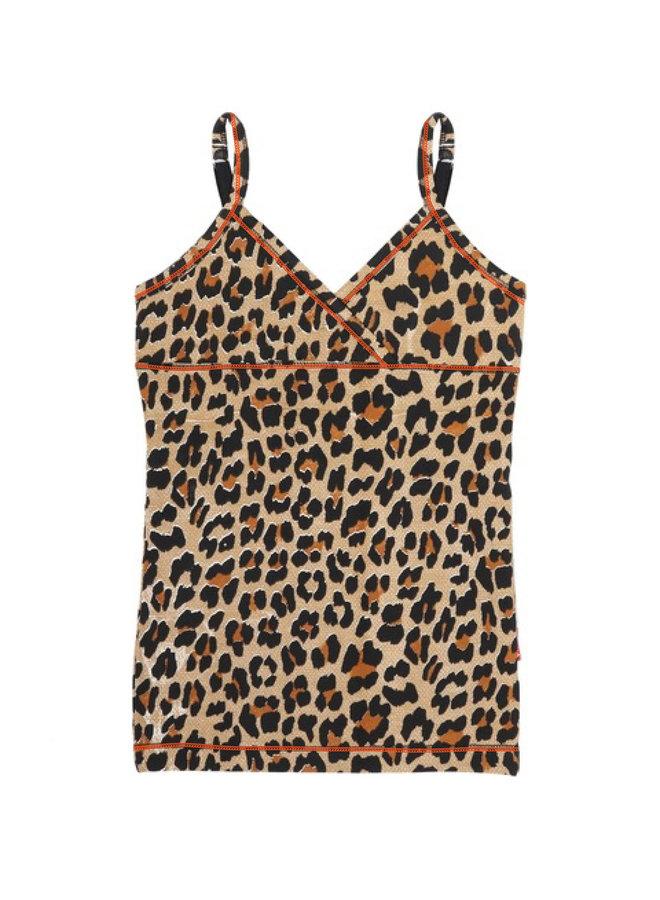 Girls 2 Pack Singlet (Brown Panther)