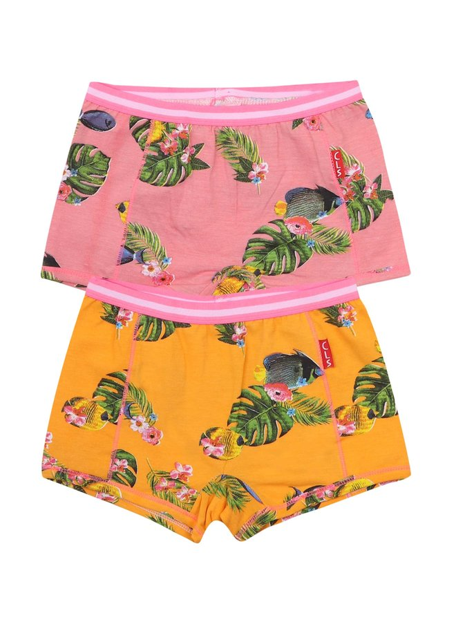 Girls 2 Pack Boxer (Fish)