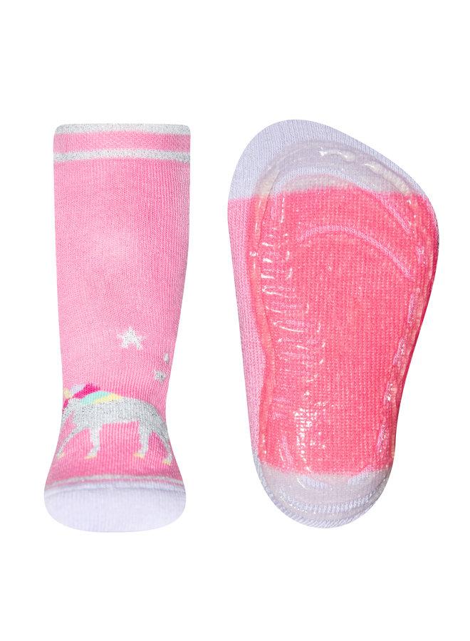 Stoppersocken SoftStep Einhorn (China pink) baby