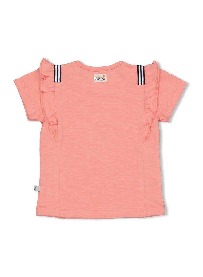 T-shirt - Sweet Gelato (Koraal)