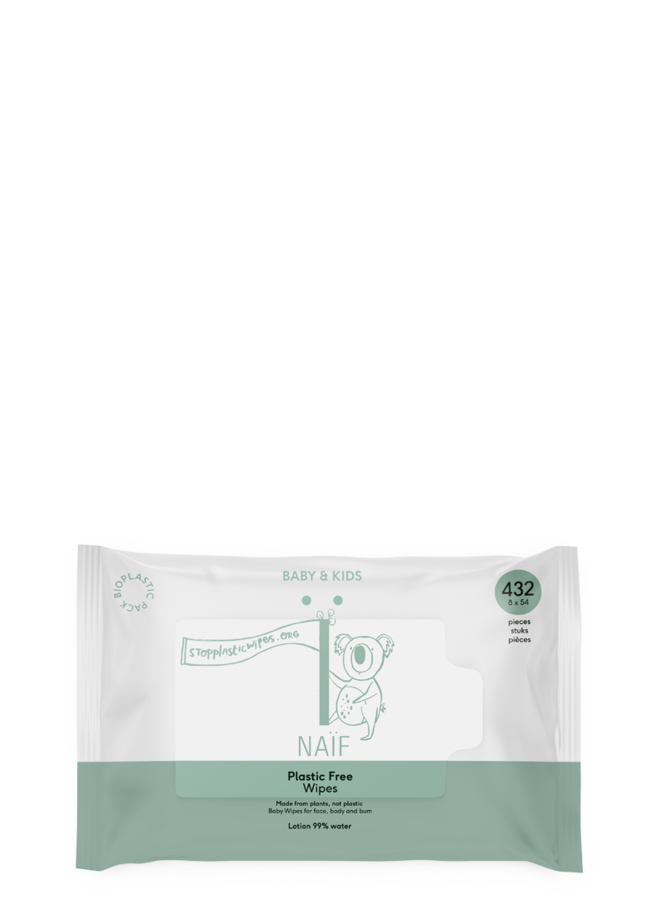 Plastic free baby wipes (54 tissues)