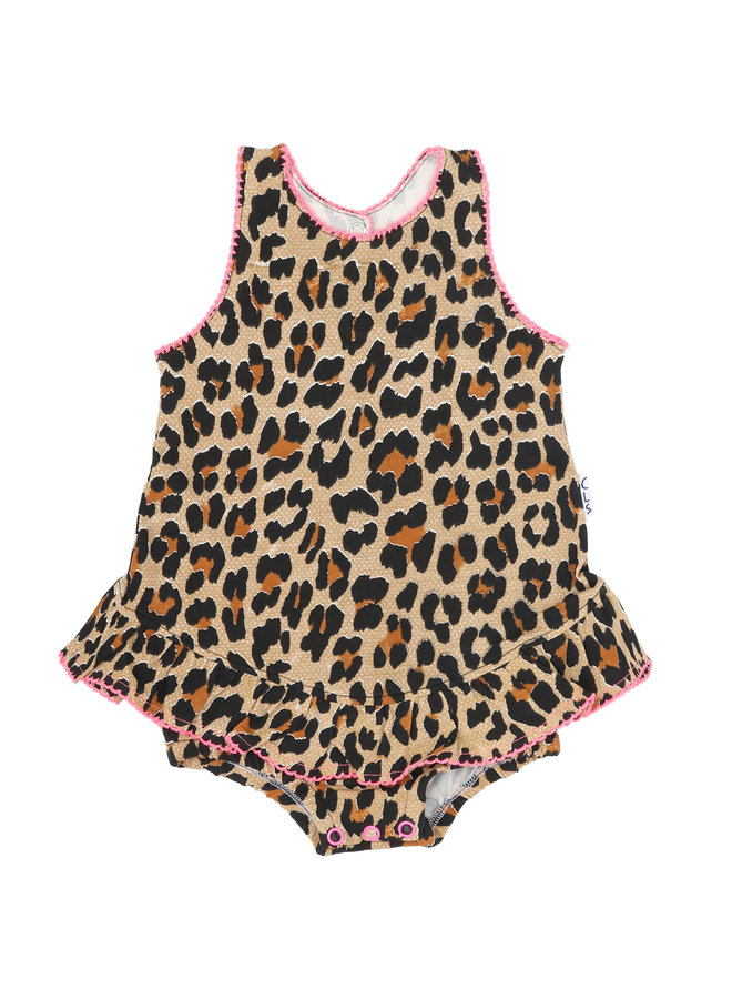 Baby Girls Romper (Brown Panther)