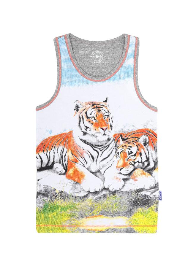 Boys 2 Pack Singlet (Tiger)