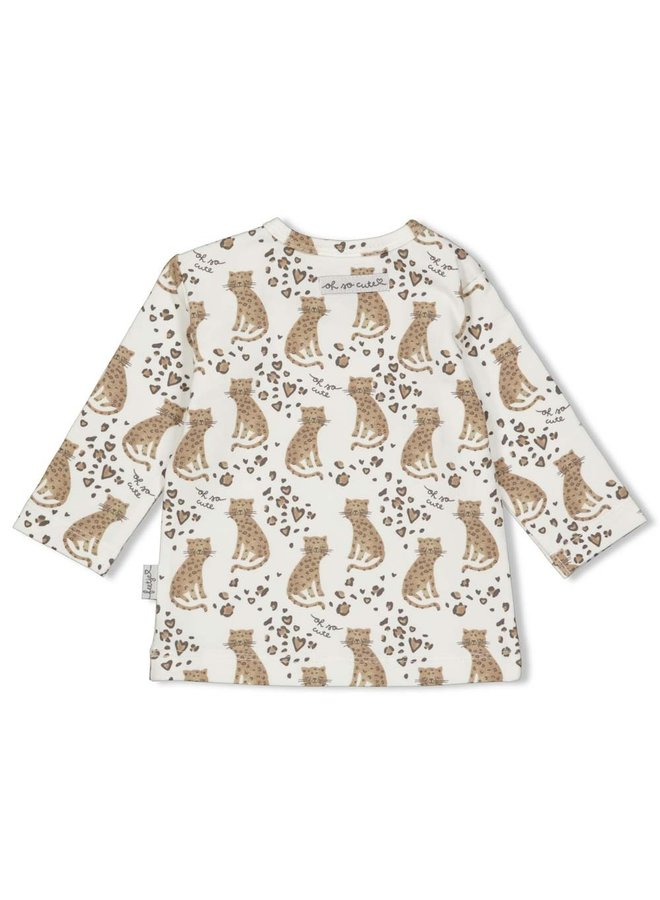 Longsleeve AOP - Panther Cutie (Off white)