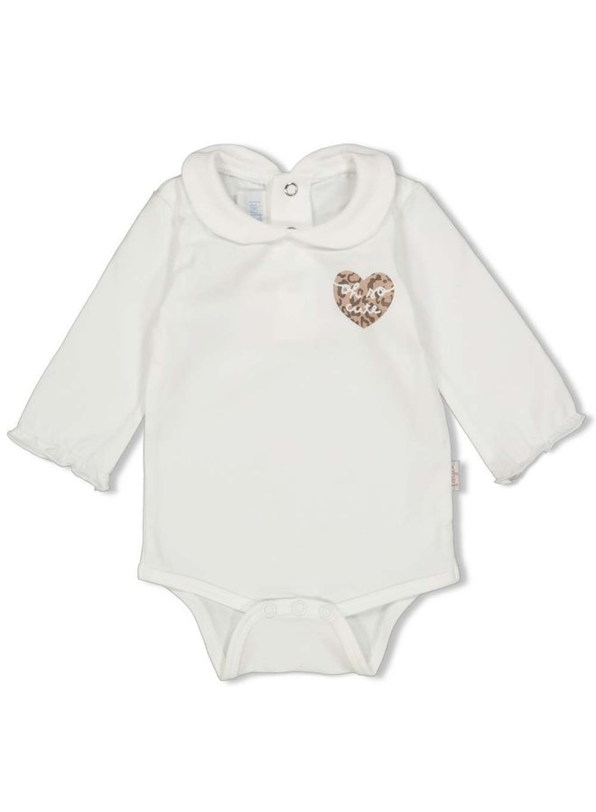 Romper - Panther Cutie (Off white)