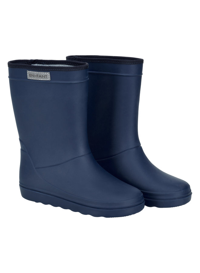 Rubber Rain Boot Solid (Blue night)