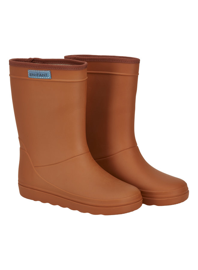Rubber Rain Boot Solid (Roasted pecan)