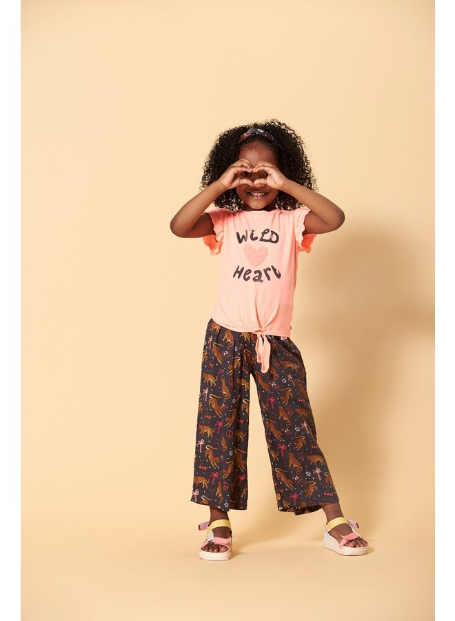 T-shirt - Whoopsie Daisy (Neon koraal)