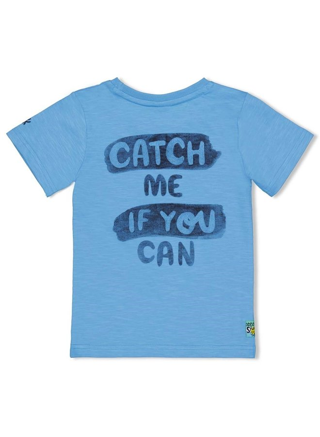 T-shirt Sea Ya - Smile & Wave (L.blauw)