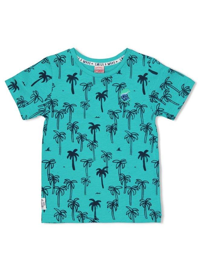 T-shirt AOP - Smile & Wave (Mint)