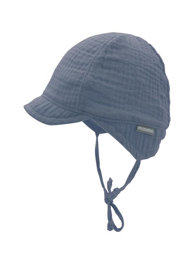 GOTS BABY BOY-cap with visor (Denim)