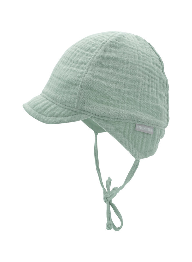 GOTS BABY BOY-cap with visor (Mineral)