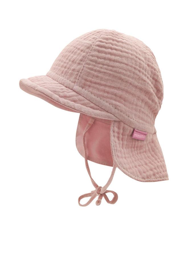 GOTS BABY-cap with visor (Altrosa)