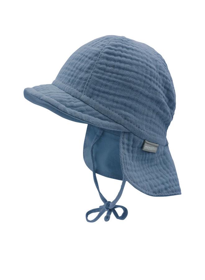 GOTS BABY-cap with visor (Denim)