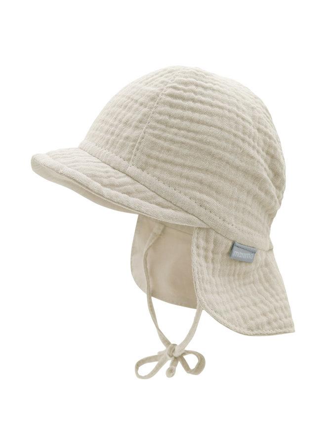 GOTS BABY-cap with visor (Feder)