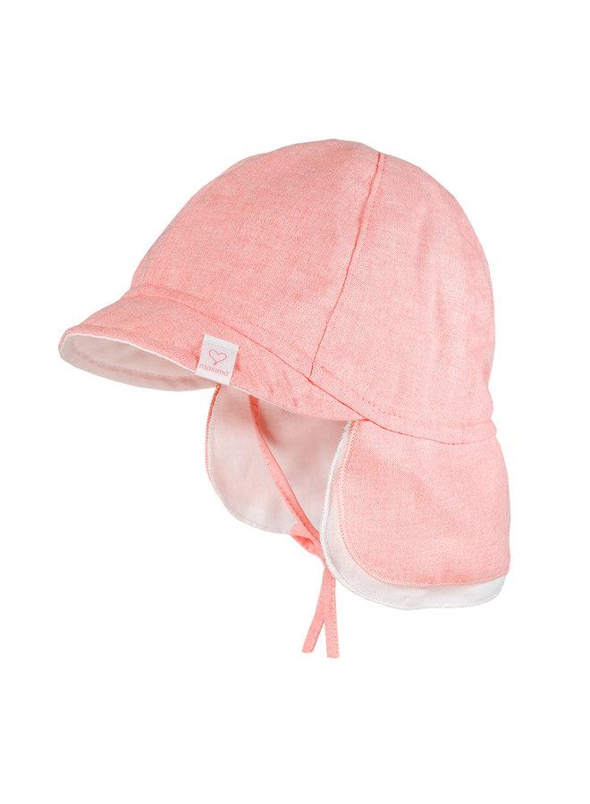 BABY-cap with visor (Zartrosameliert)