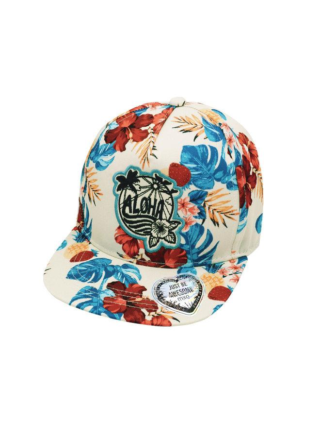 """KIDS GIRL-cap """"aloha flower"""""""