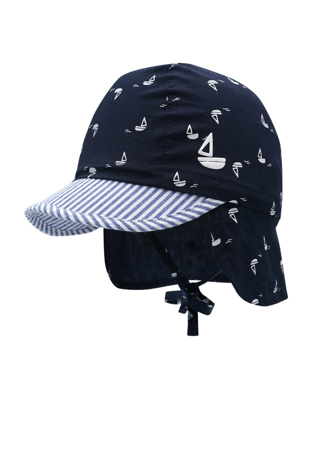 BABY BOY-cap neck protection (Navy)