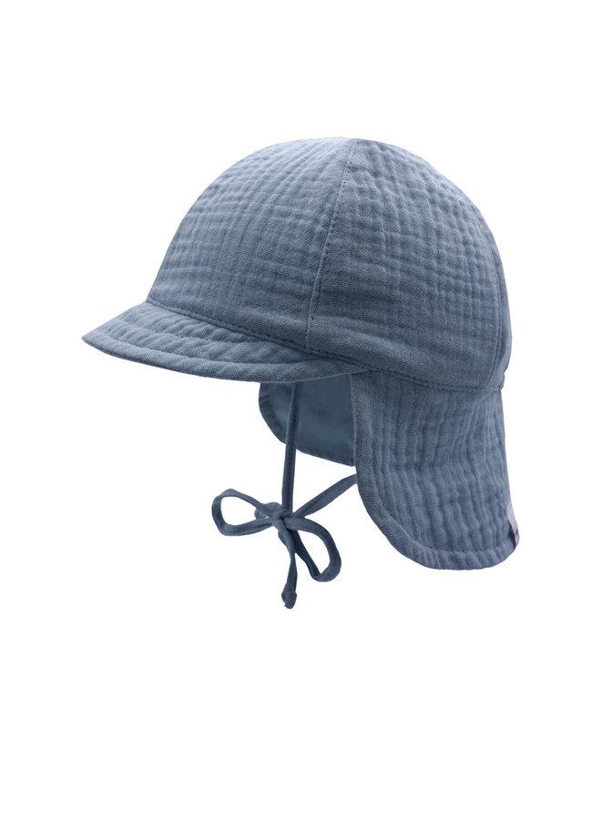 GOTS MINI-cap with visor (Denim)