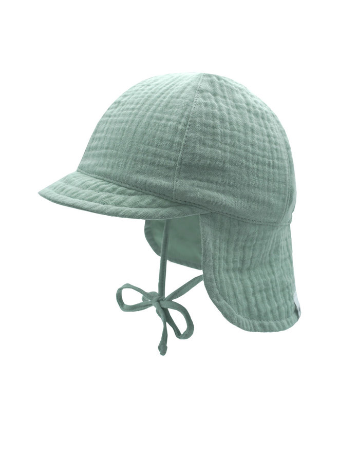 GOTS MINI-cap with visor (Mineral)