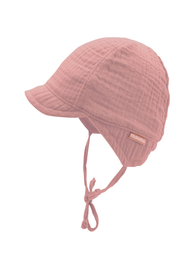 GOTS BABY BOY-cap with visor (Altrosa)