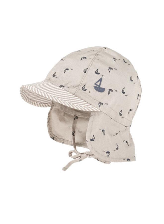 BABY BOY-cap neck protection (Sand)