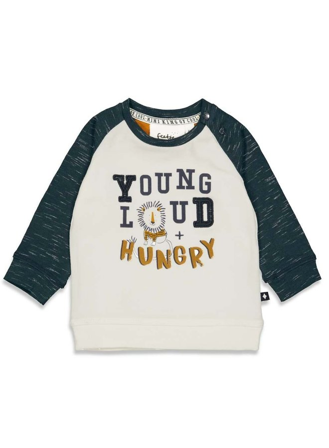 Longsleeve Young - King Of Cool (Offwhite) 51601755