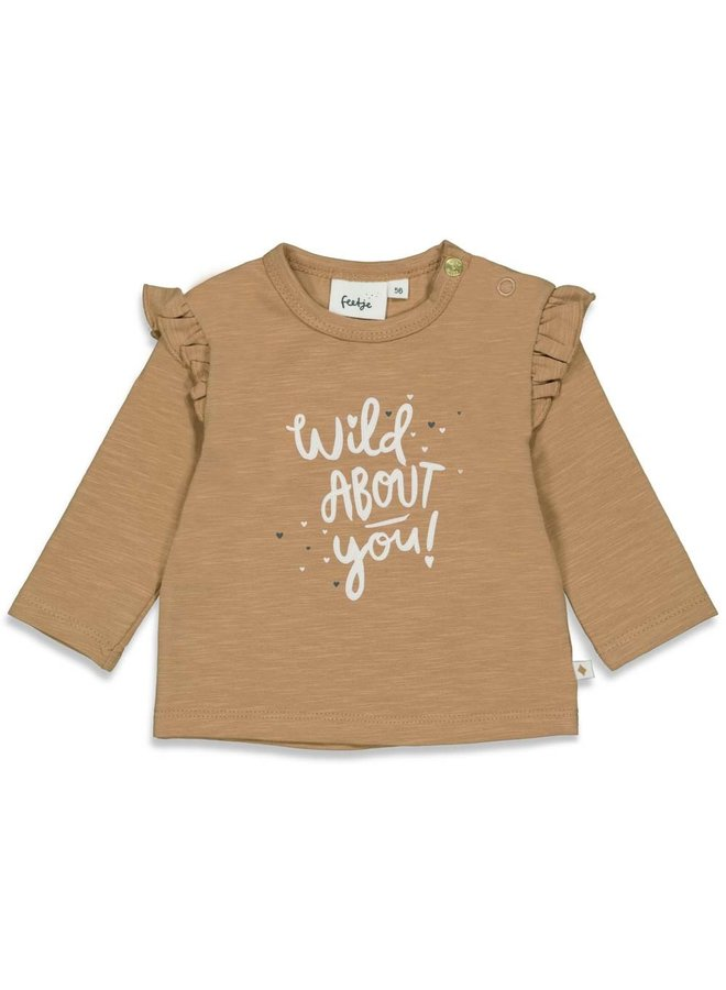 Longsleeve About You - Wild At Heart (Camel) 51601794