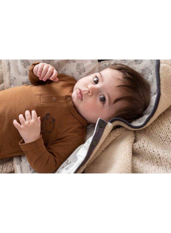 Teddy jasje met capuchon - Cool Adventure (Offwhite) 51800263