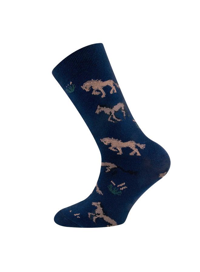Socken  Pferde (navy)