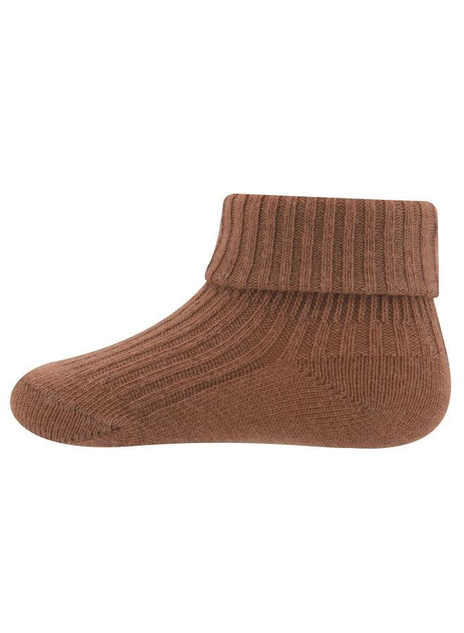 Socken Umschlag (toffee)