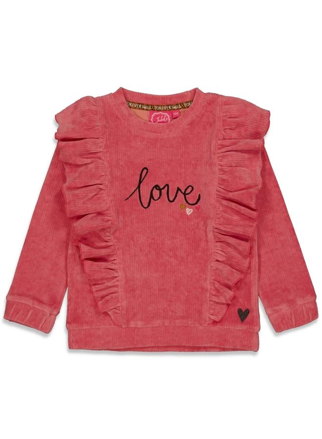 Sweater ruches - Forever Wild (Roze) 91600300