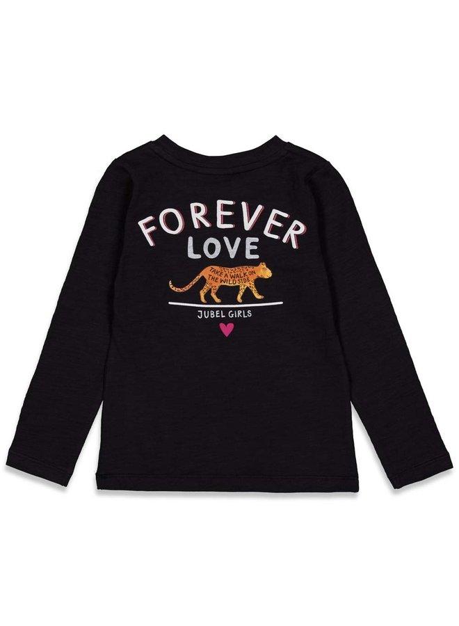 Longsleeve - Forever Wild (Zwart) 91600295