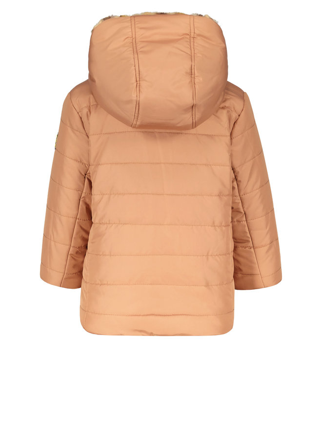Flo baby girls hooded reversible jacket F107-7250 Old pink