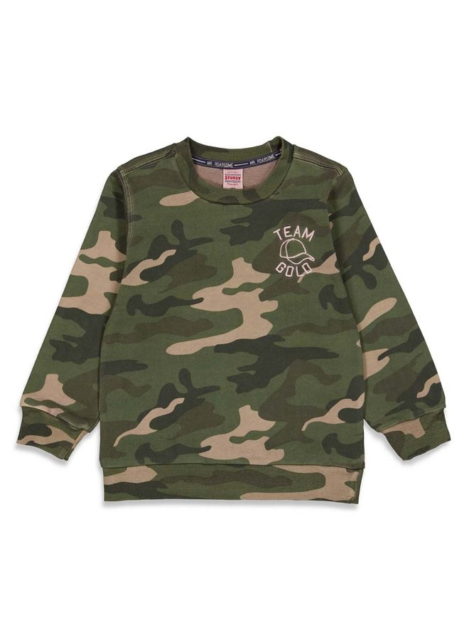 Sweater AOP - Press And Play (Army) 71600465