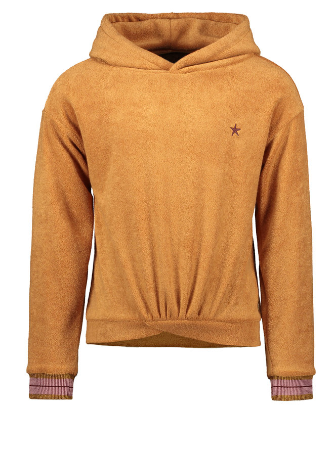 Flo girls terry hooded top F108-5353 Camel