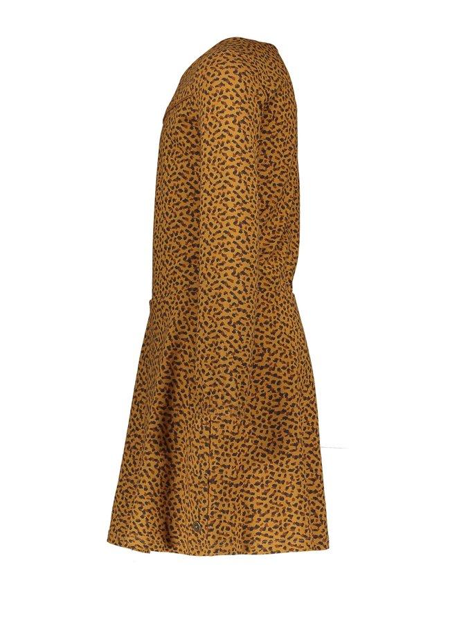 Flo girls jacquard jersey dress F108-5800 Camel
