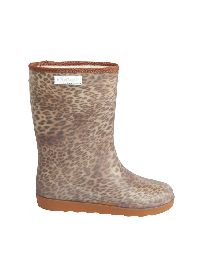 Thermo Boots Print   Sand Leo