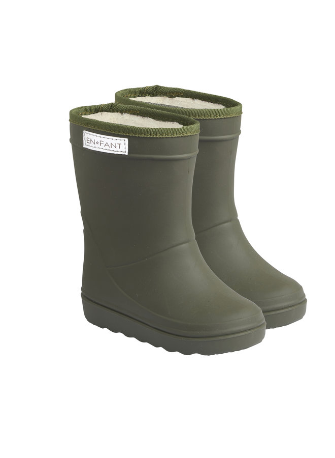 Thermo Boots Solid   Dusty Olive