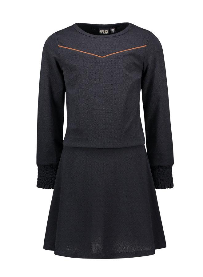 Flo girls crepe dress F108-5805 Navy