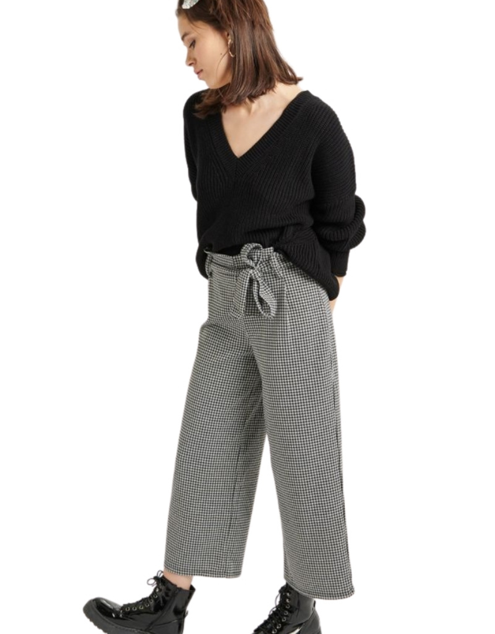 24Colours - Pantalon pied-de-poule (60491)