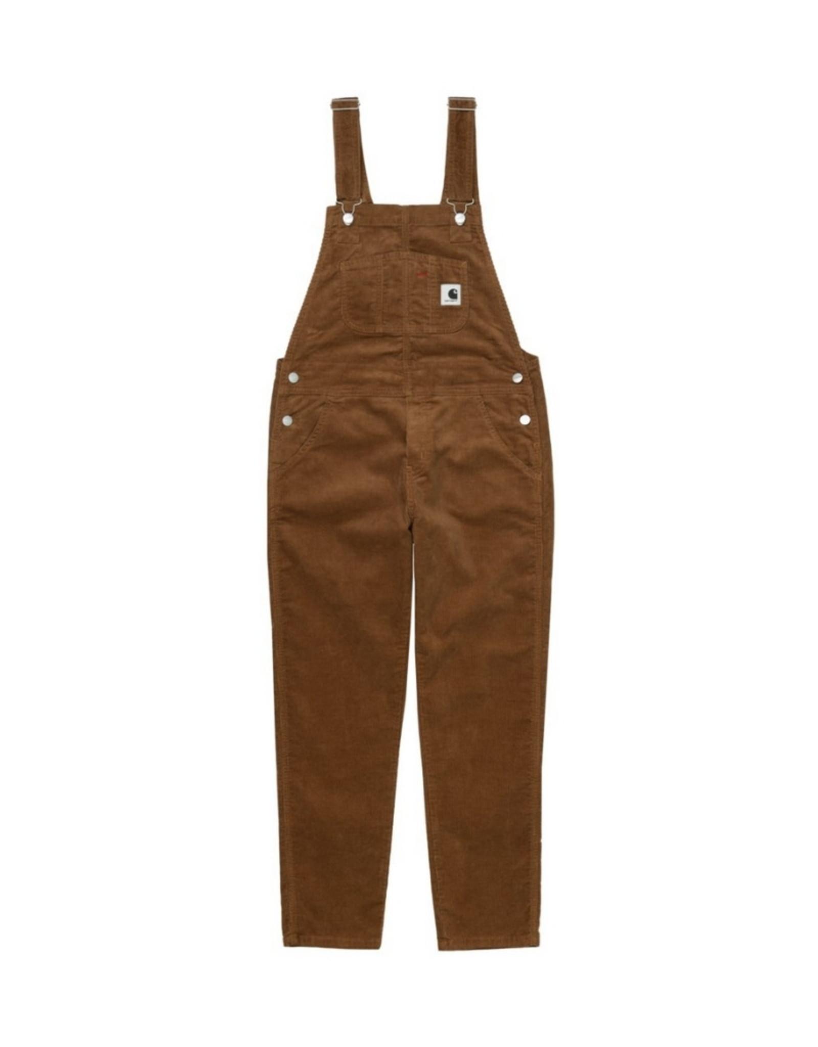 Carhartt - W BIB OVERALL CORDUROY / hamilton brown rinsed