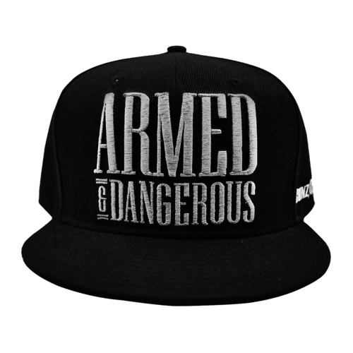 Gunz For Hire Gunz For Hire Armed & Dangerous White Snapback