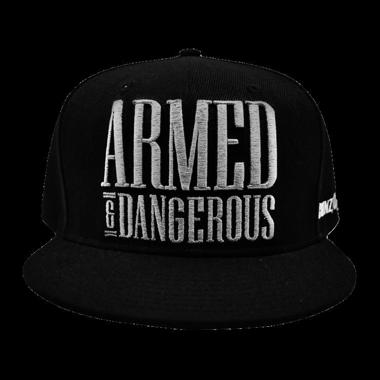 Gunz For Hire Hardstyle.com   - Merchandise & Shop -  Gunz For Hire Armed & Dangerous Snapback