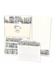 Briefpapier met enveloppen | Grachtenpandjes